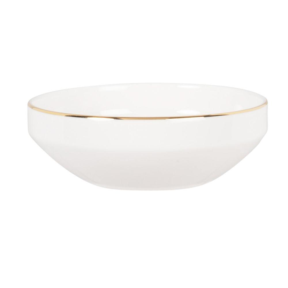 Coupelle en porcelaine blanche et dorée