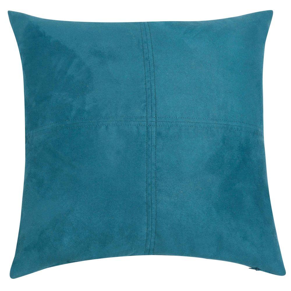 Coussin bleu de saxe 40 x 40 cm
