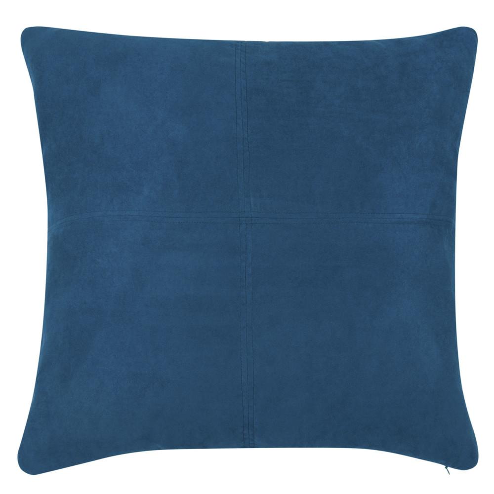 Coussin bleu de Saxe 60x60