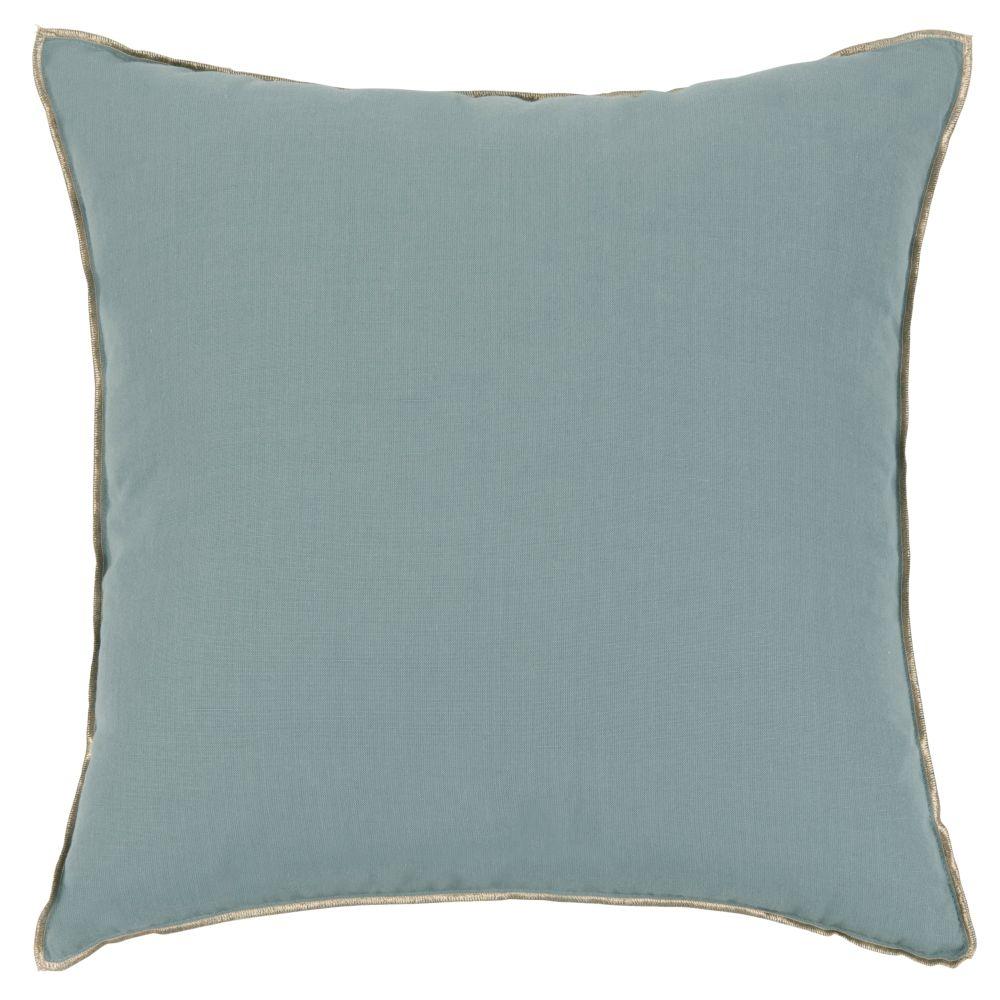 Coussin bleu et doré 45x45