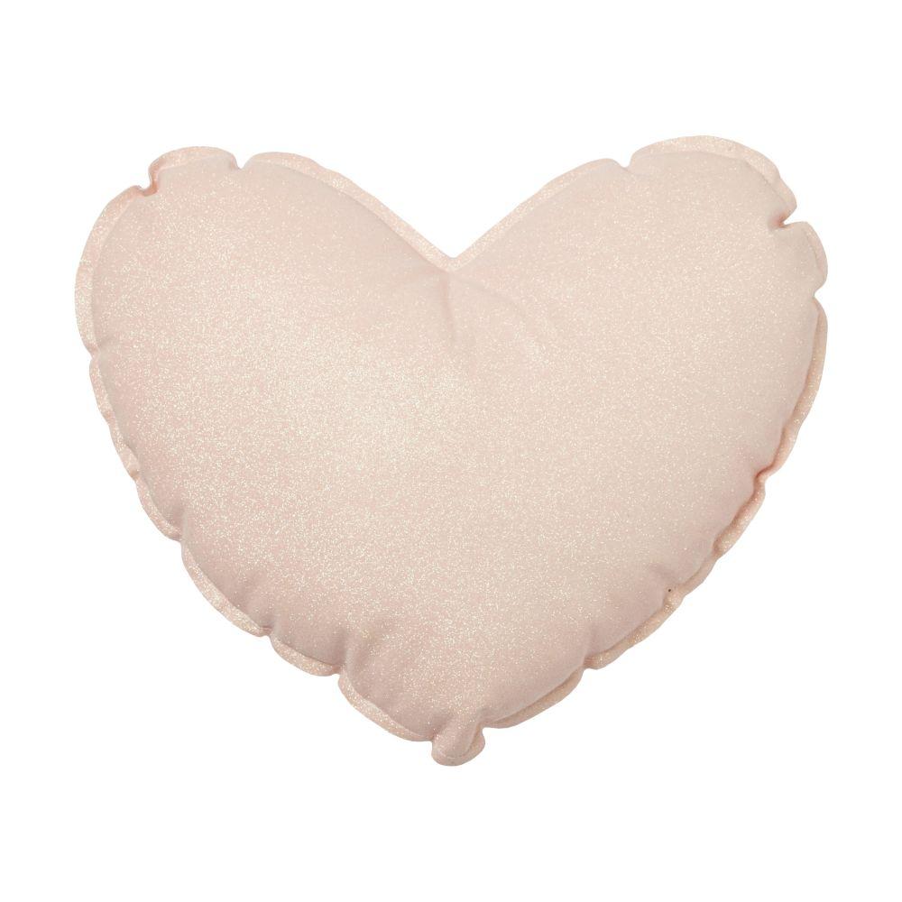 Coussin cœur rose à paillettes 30x30