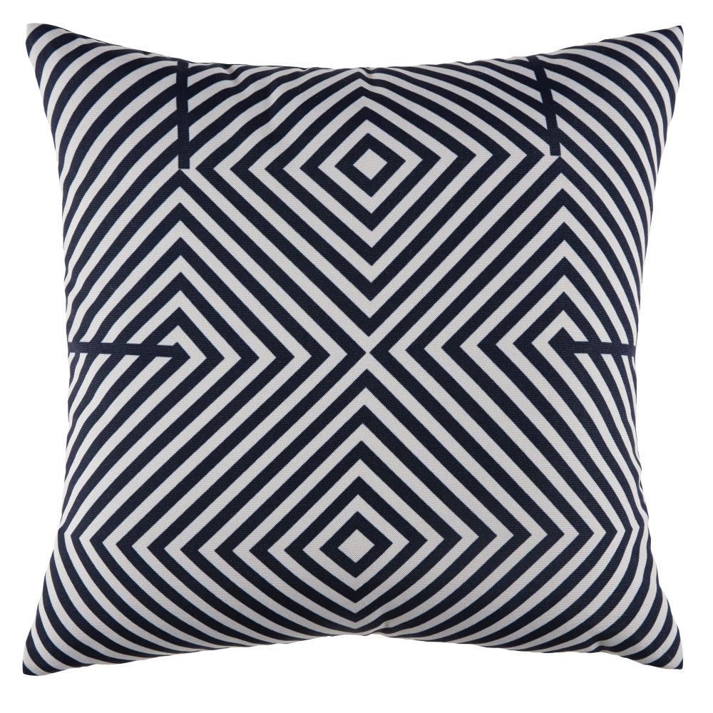 Coussin d'extérieur bicolore motifs graphiques45x45