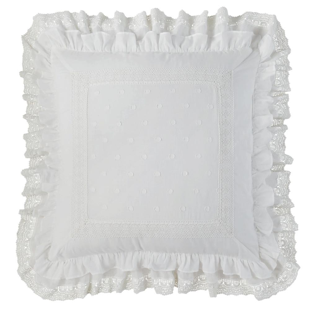 Coussin en coton blanc 60 x 60 cm
