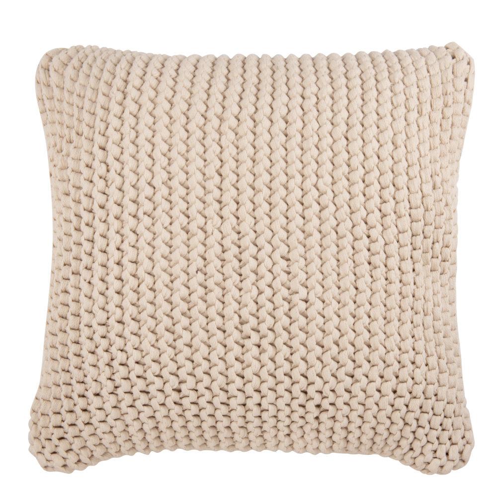 Coussin en coton écru 50x50