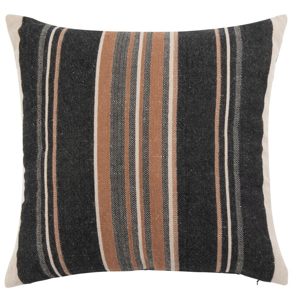 Coussin en coton motifs à rayures 50x50