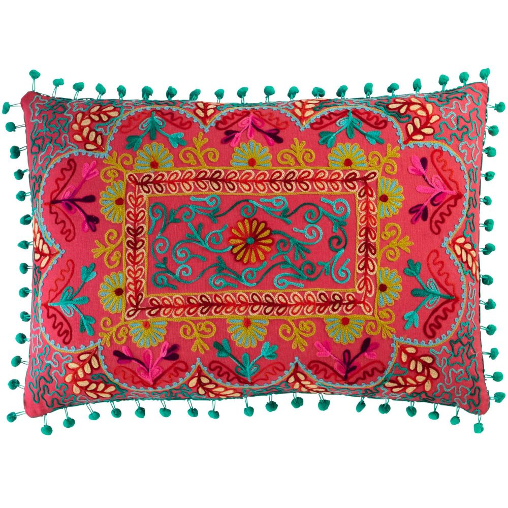 Coussin en coton multicolore 30 x 50 cm