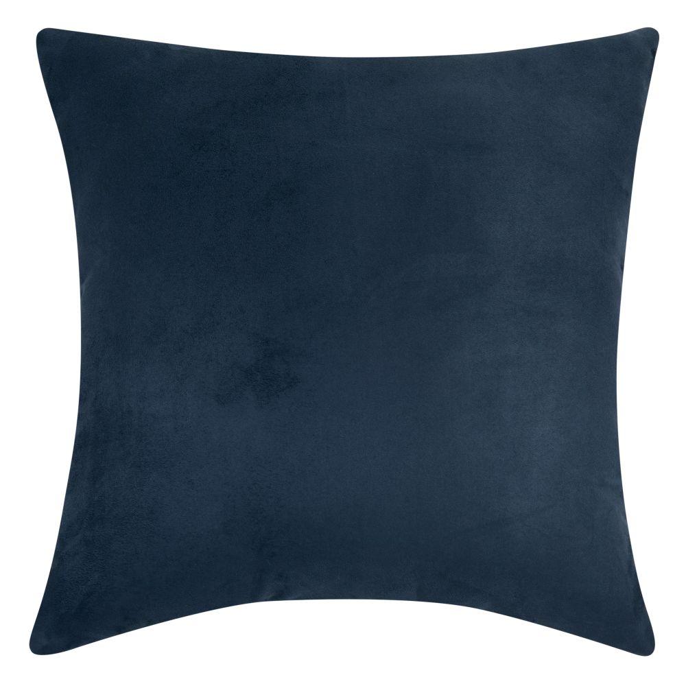 Coussin en suédine bleu marine 60x60