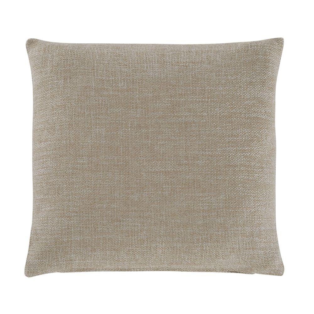 Coussin en tissu beige 45x45