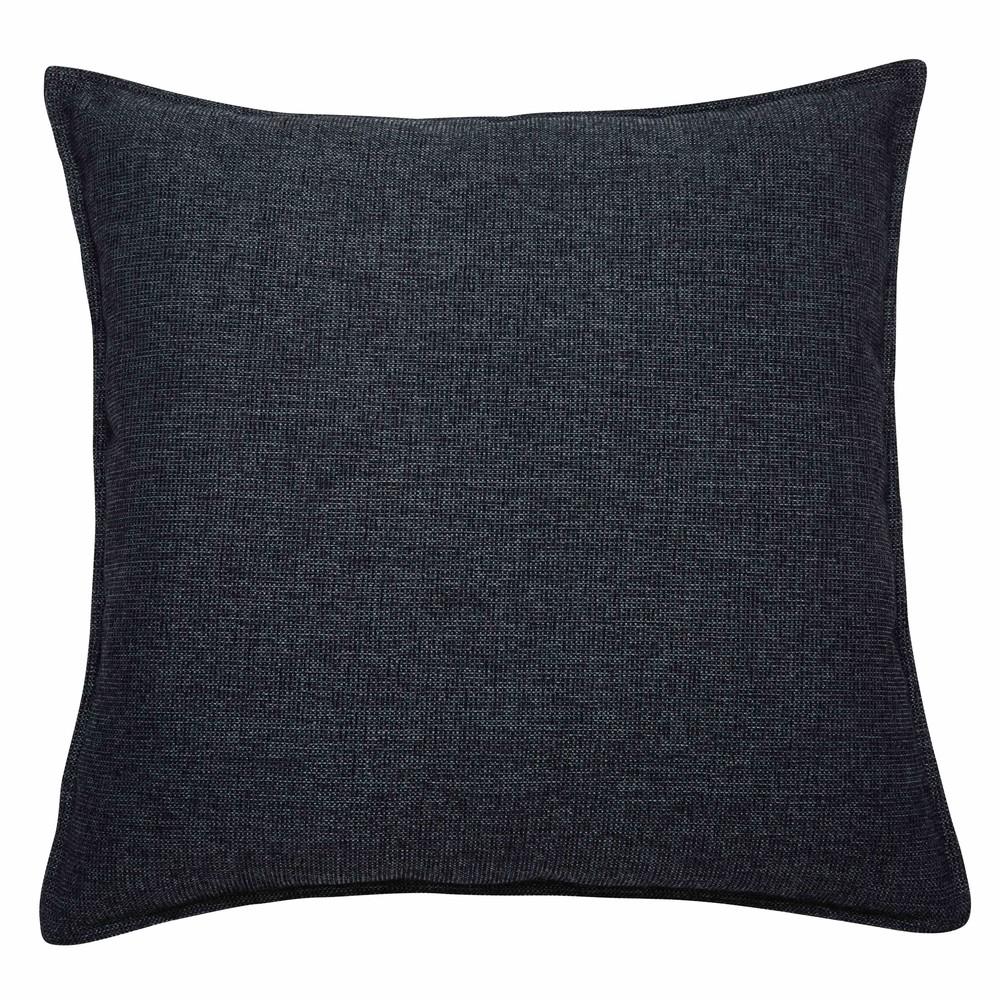 Coussin en tissu gris charbon 60x60