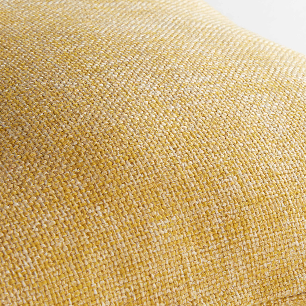 Coussin en tissu jaune 45x45cm