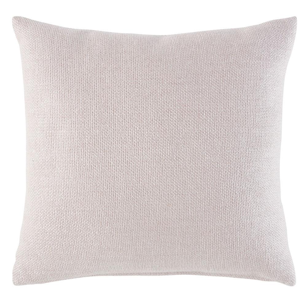 Coussin en tissu rose poudré 45x45