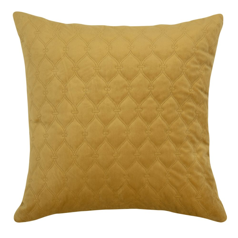Coussin jaune moutarde 45x45