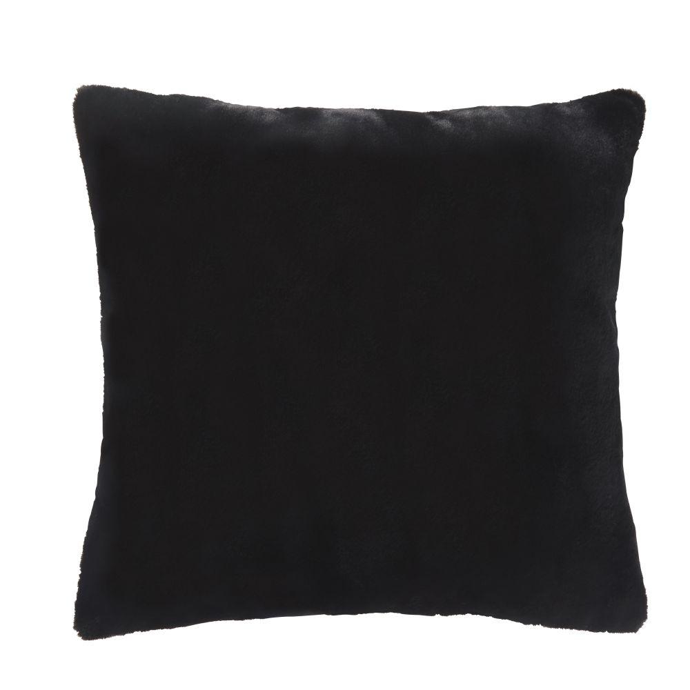 Coussin noir 60x60