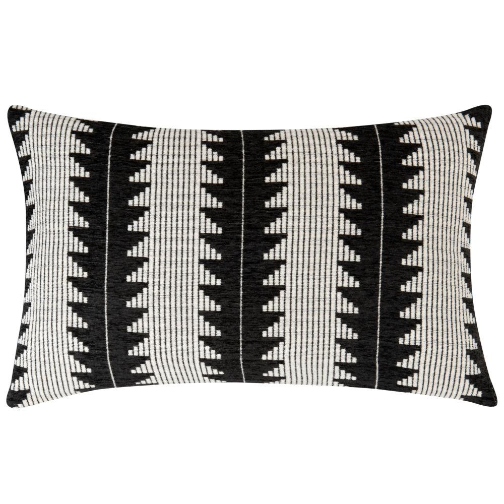 Coussin noir et blanc à motifs 40x60