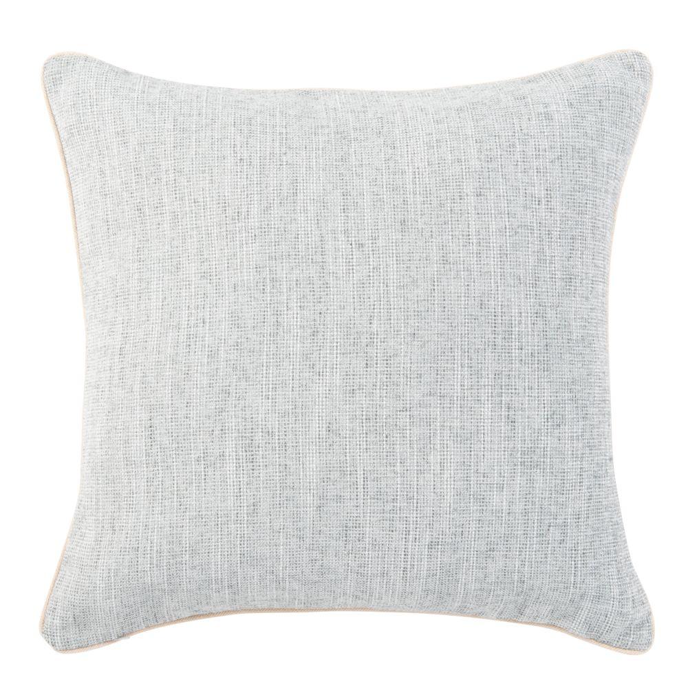 Coussin tissé jacquard gris clair 50x50