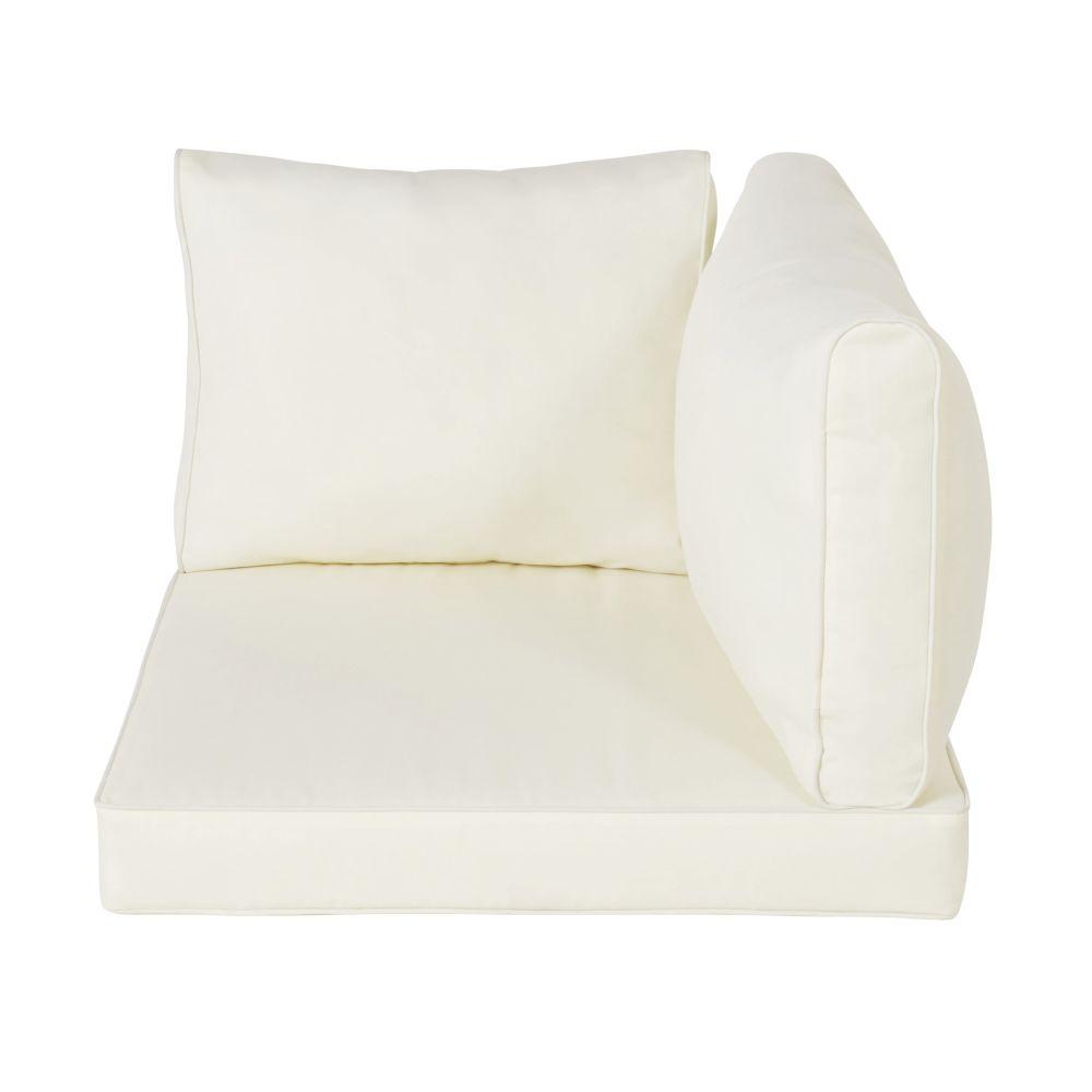 Coussins pour angle de canapé de jardin blancs