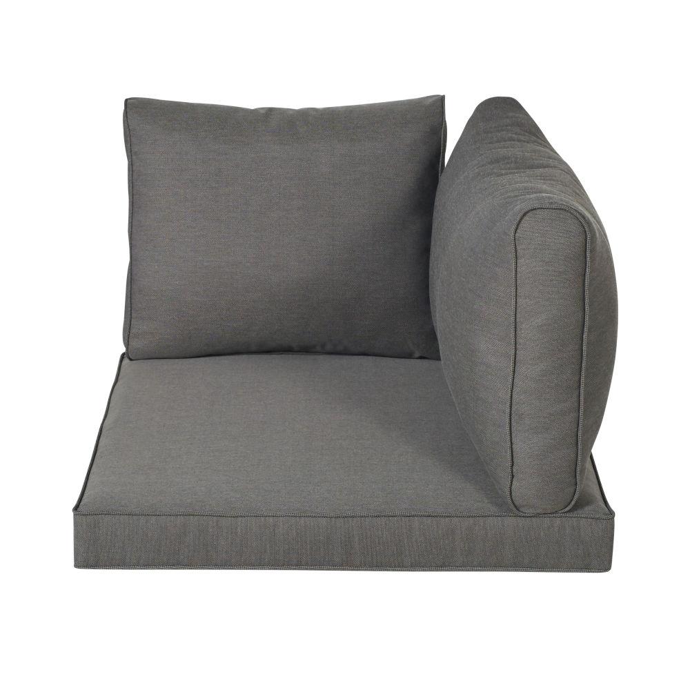 Coussins pour angle de canapé de jardin gris foncé