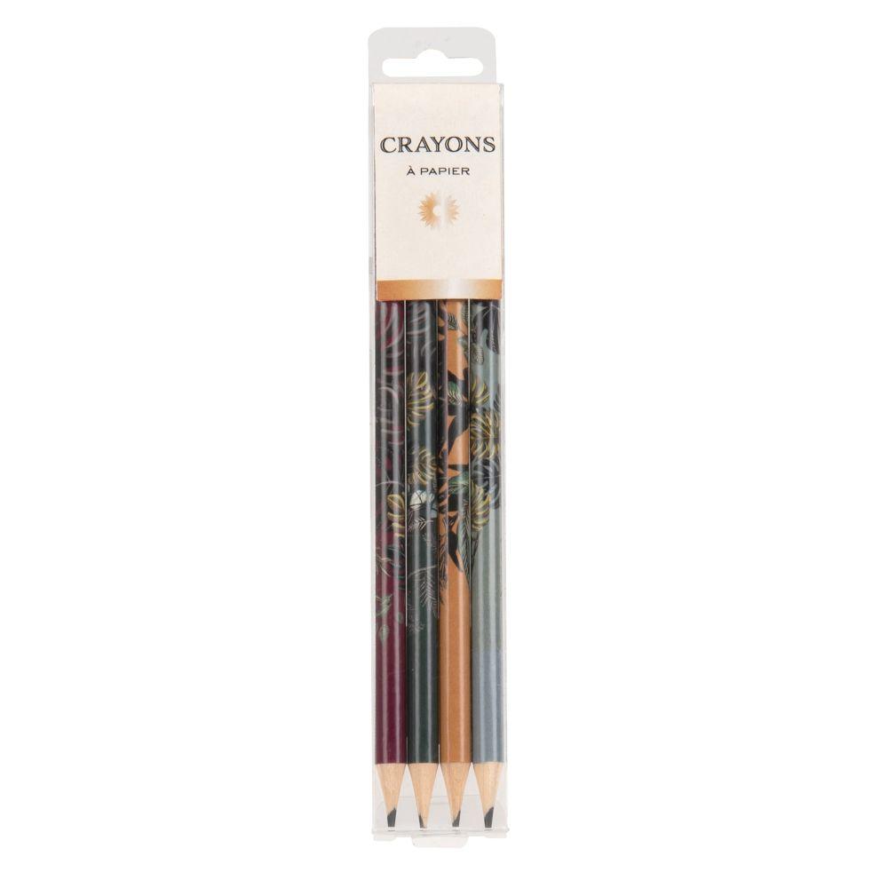 Crayon à papier en bois multicolore (x4)