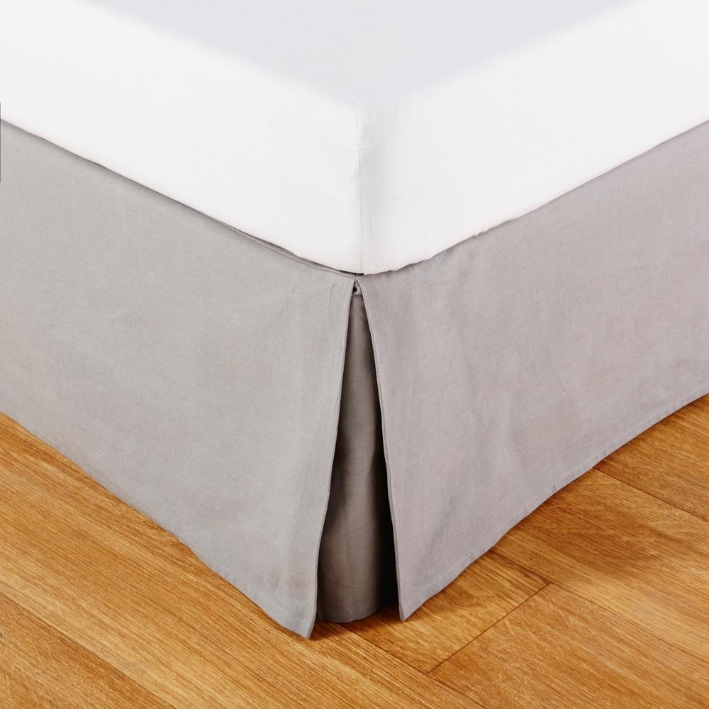 Cubresomier 180x200 de algodón gris