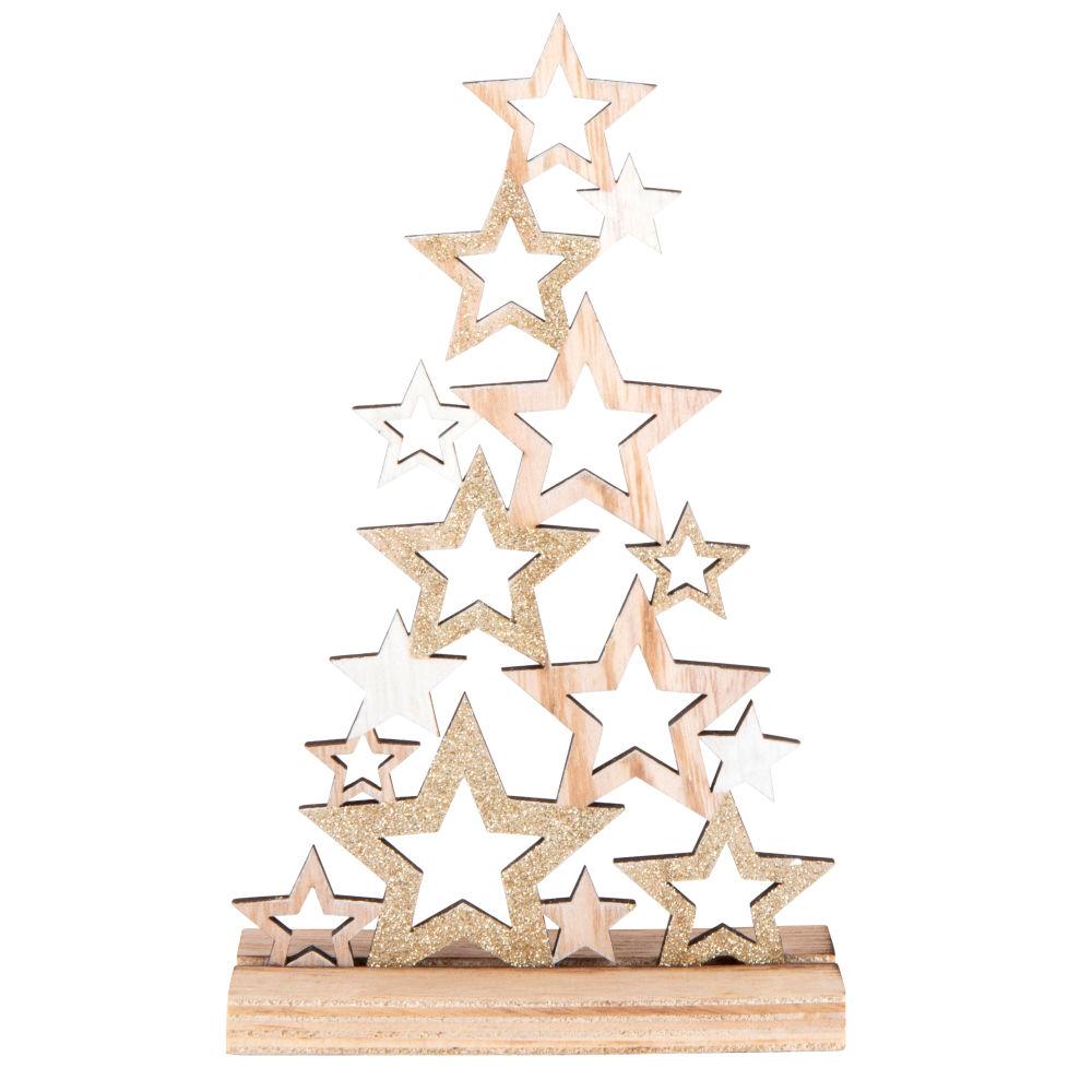 Déco de Noël sapin d'étoiles