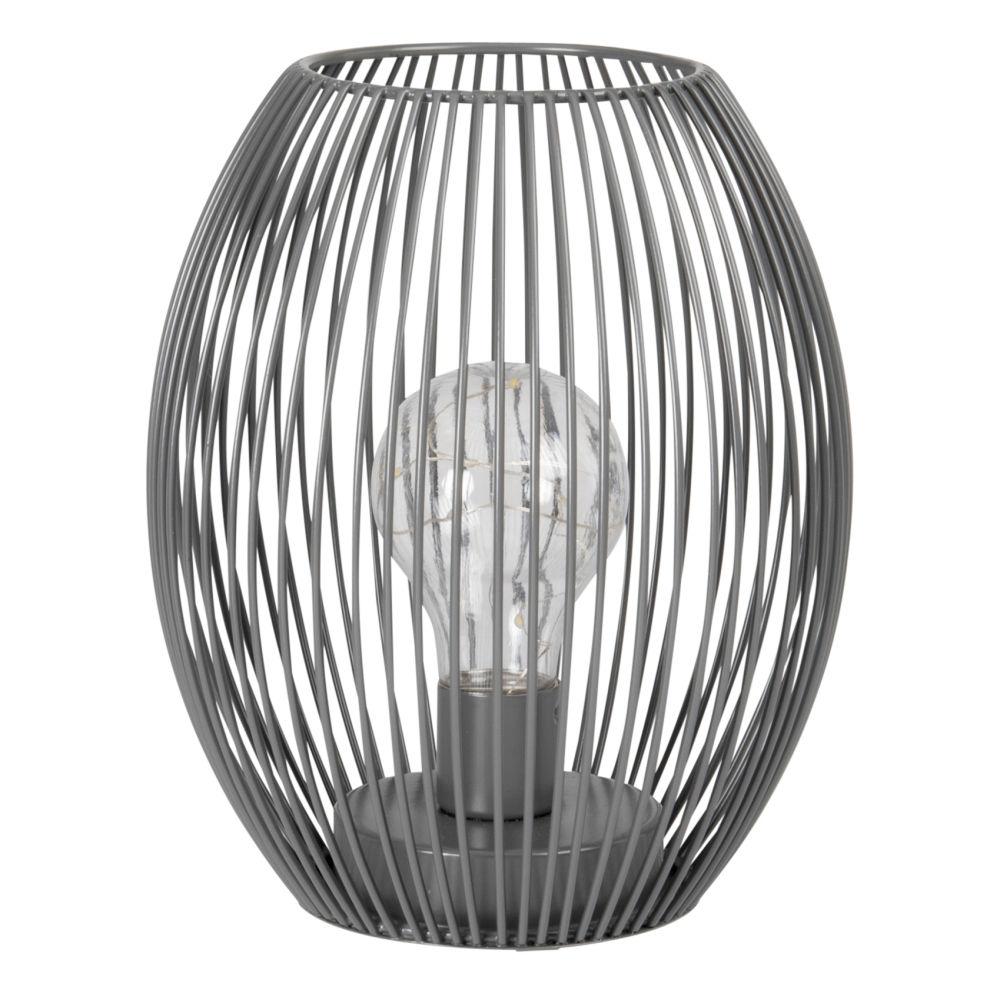 Déco lumineuse en métal filaire noir