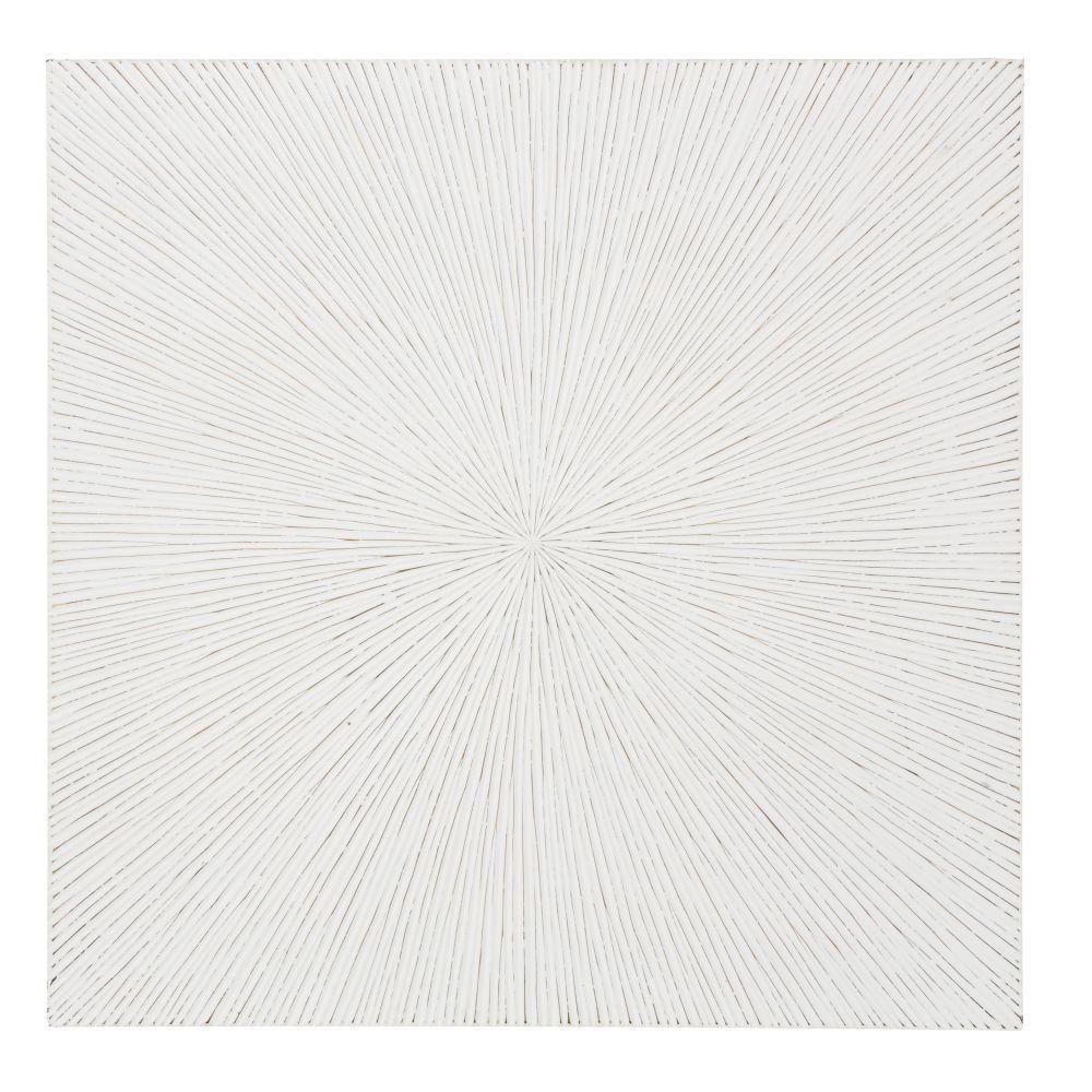 Déco murale blanche sculptée 122x122