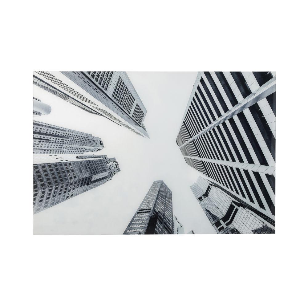Déco murale en Plexiglas® imprimé noir et blanc 80x120 (photo)
