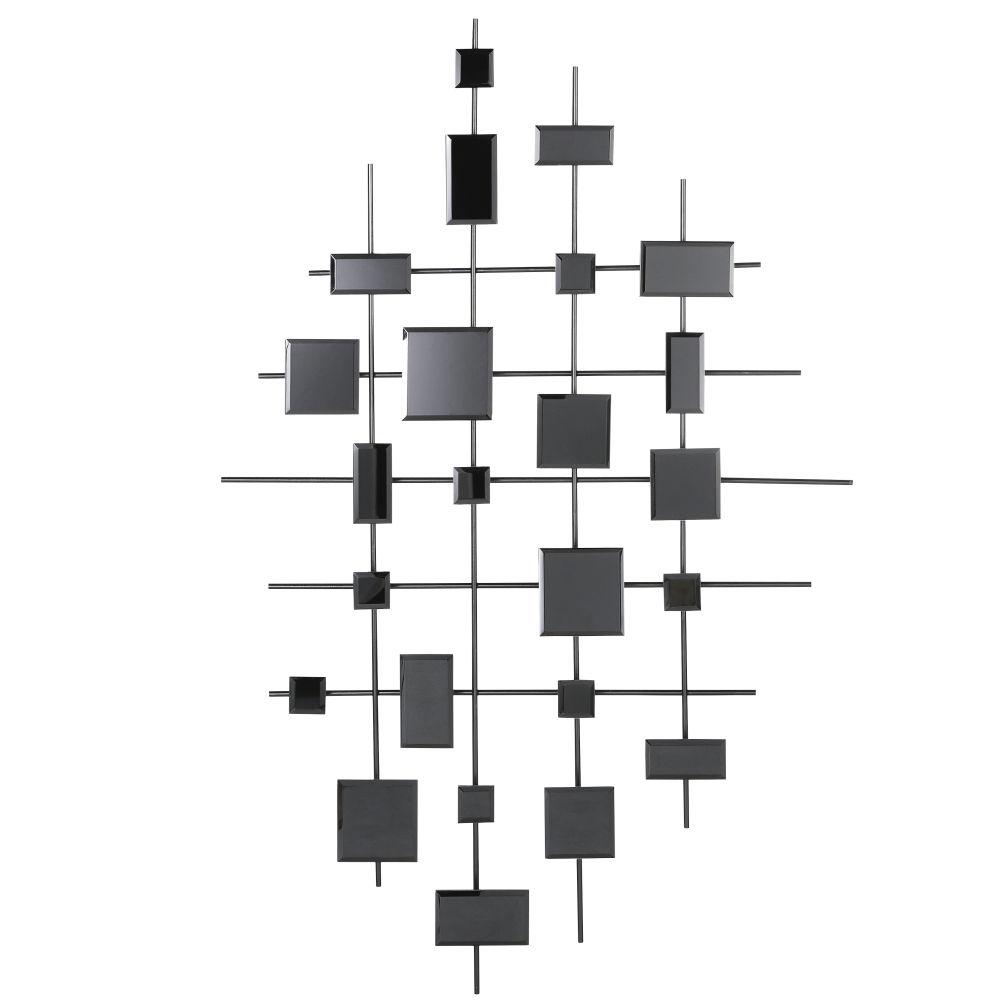 Déco murale miroirs fumés noirs 86x140