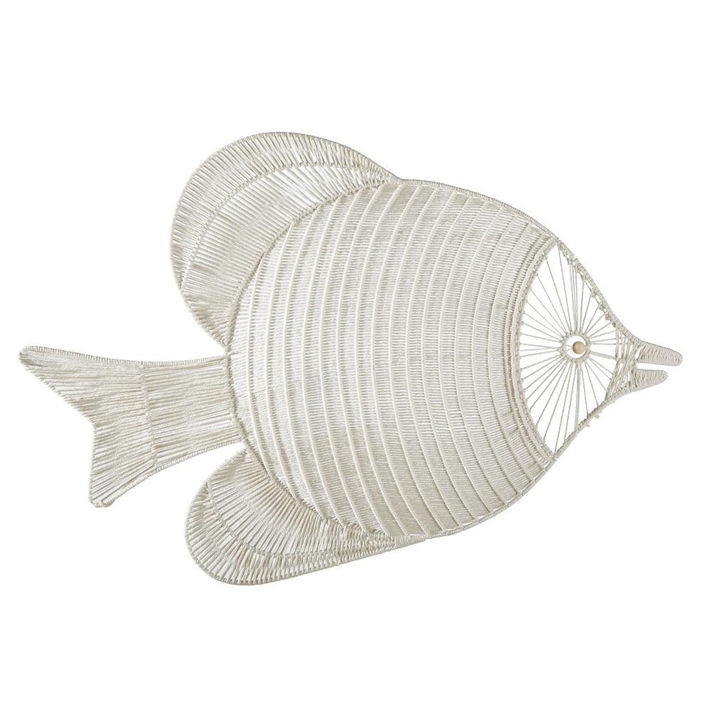 Déco murale poisson en macramé 119x78
