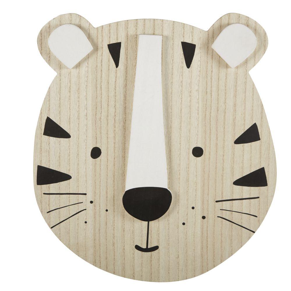 Déco murale tête de tigre 31x35