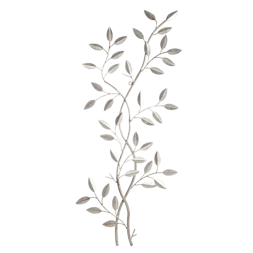 Déco murale végétale en métal 33x76