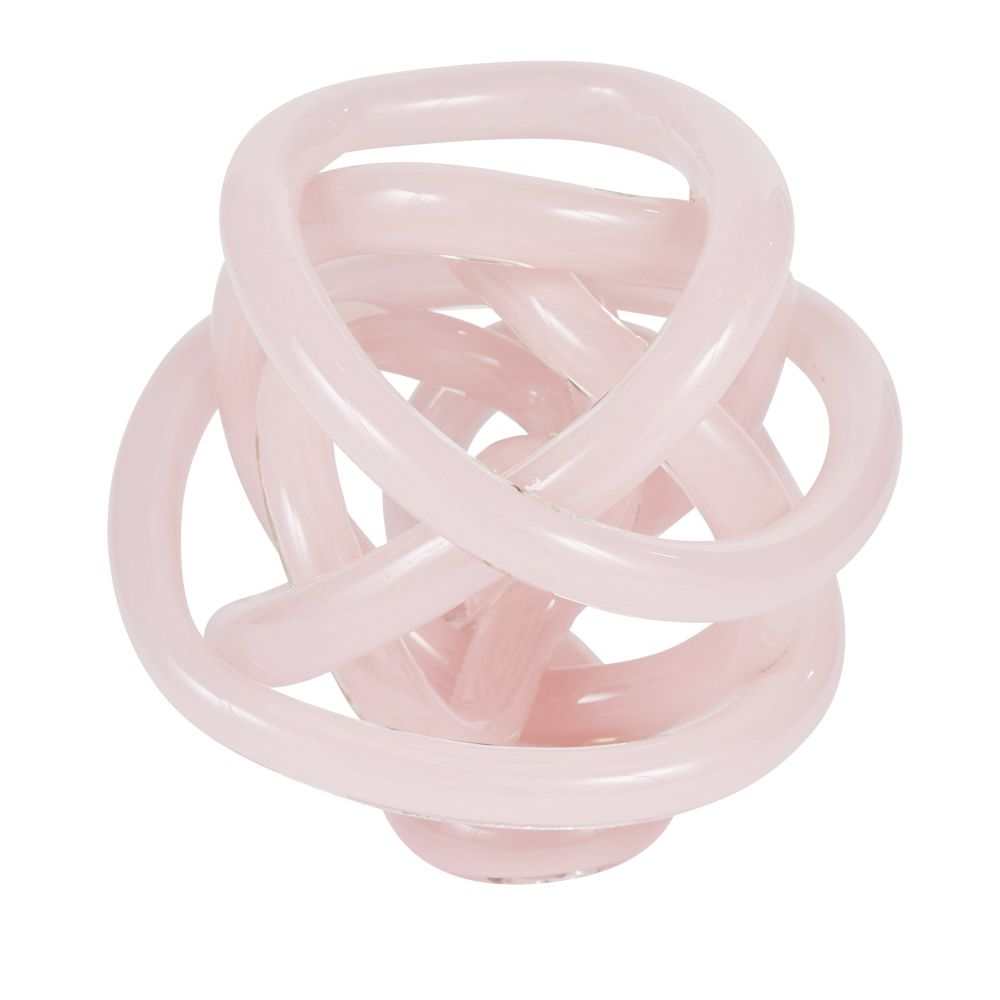 Déco nœud en verre teinté rose