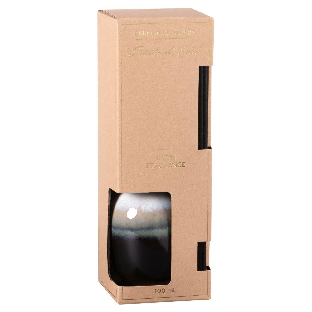 Diffuseur en céramique noire, bleue et beige parfum patchouli épicé 100ML