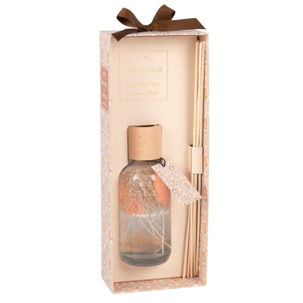 Diffuseur en verre parfum cœur de fleur 200ML