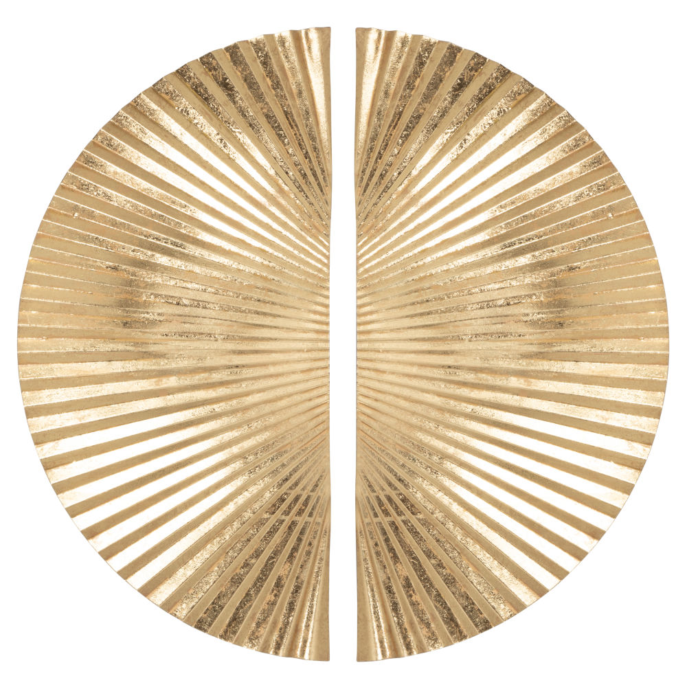 Diptyque en métal doré 64x66