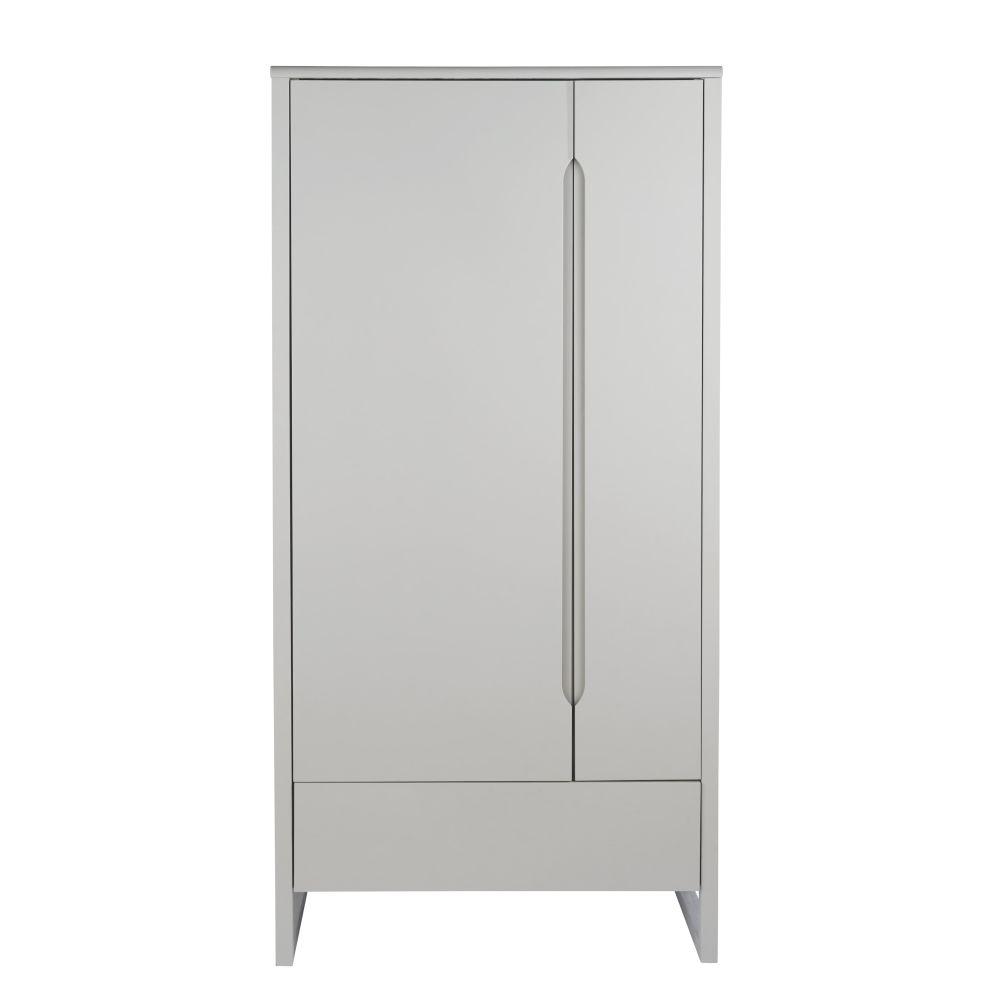 Dressing 2 portes 1 tiroir gris