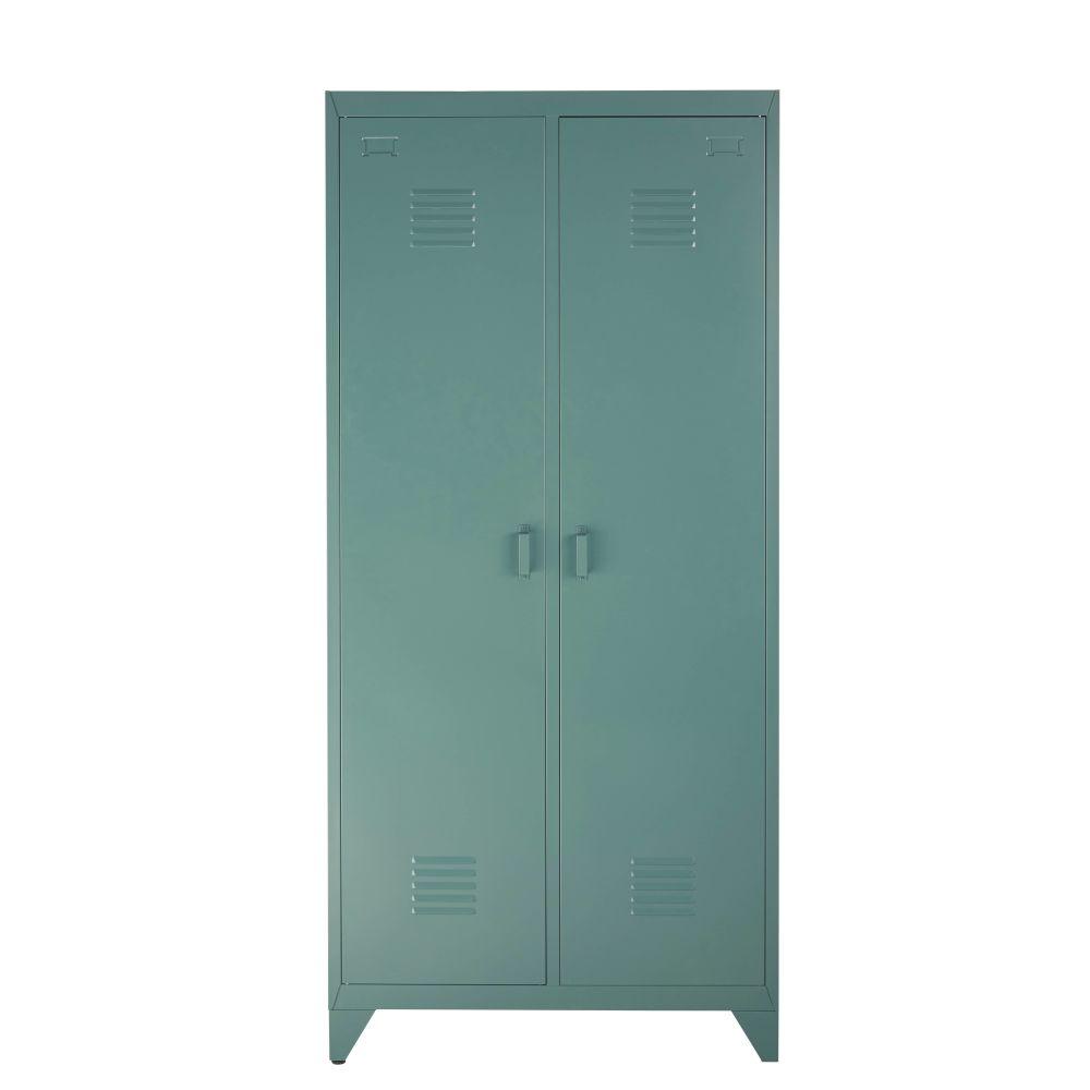 Dressing 2 portes en métal vert foncé