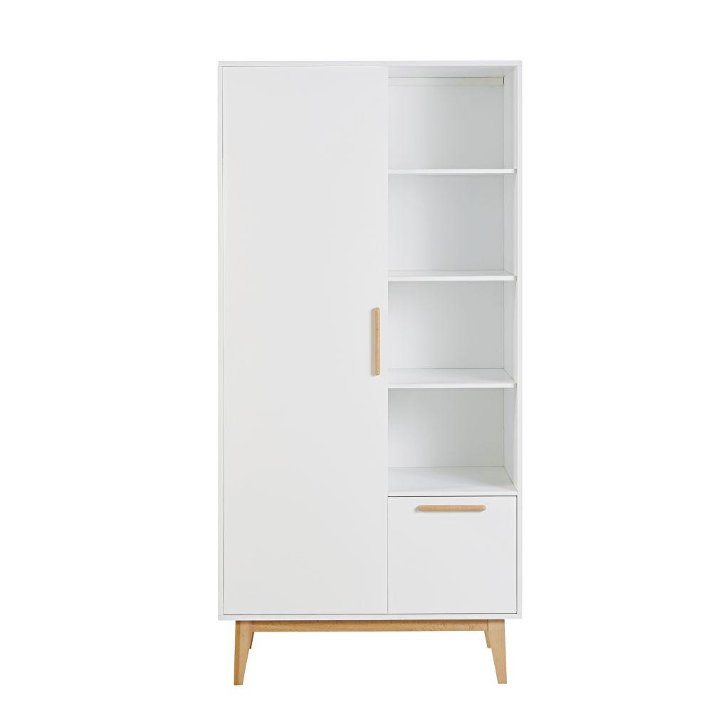 Dressing style scandinave 1 porte 1 tiroir blanc