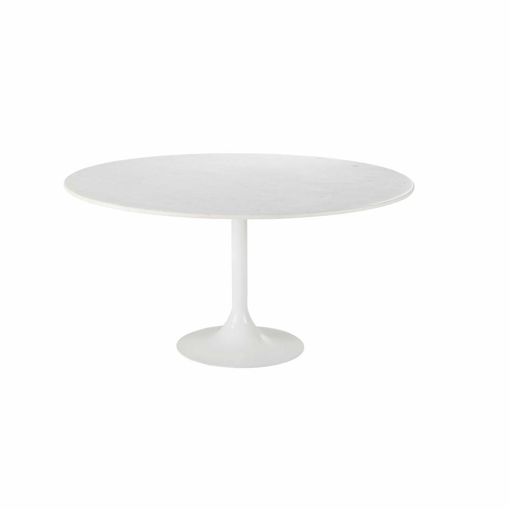 Eettafel Uit Wit Marmer En Metaal Voor 6 Personen D145