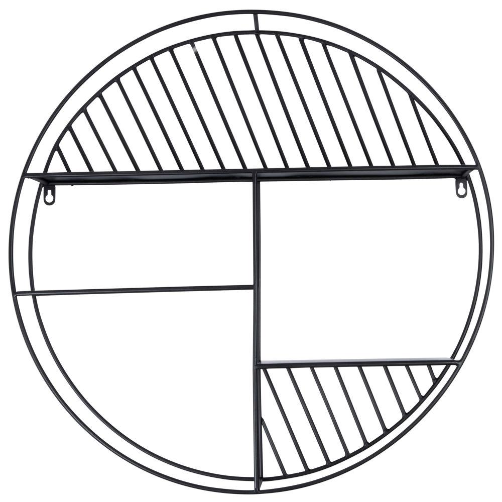 Etagère ronde en métal noir
