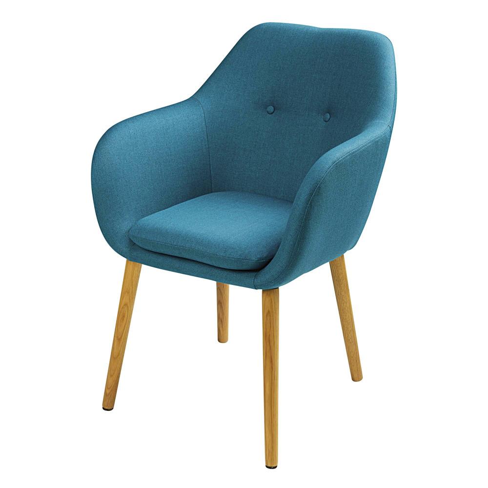 Fauteuil vintage bleu