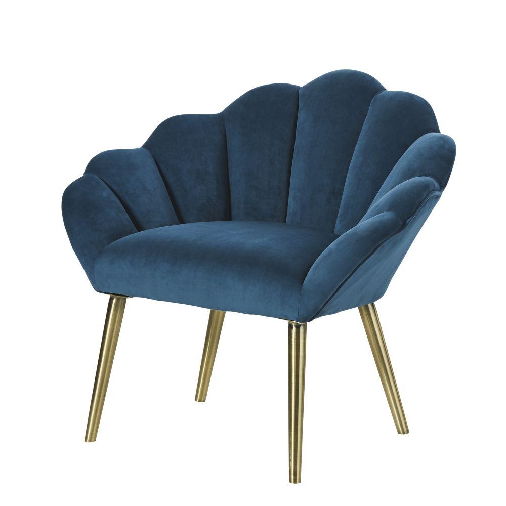 Fauteuil vintage bleu canard