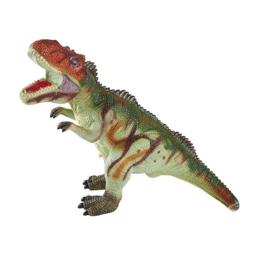 Figurine tyrannosaure verte et rouge