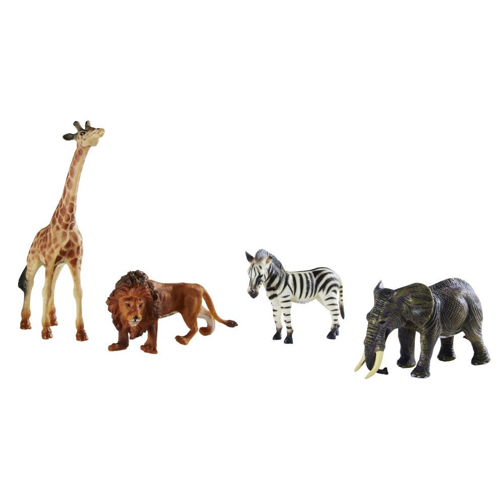Figuritas multicolores de la selva