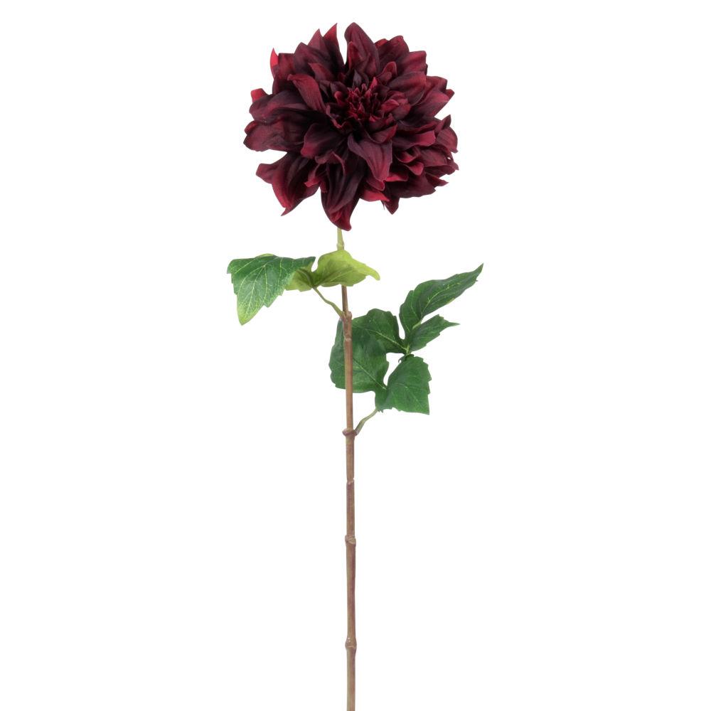 Fleur artificielle dahlia bordeaux H62
