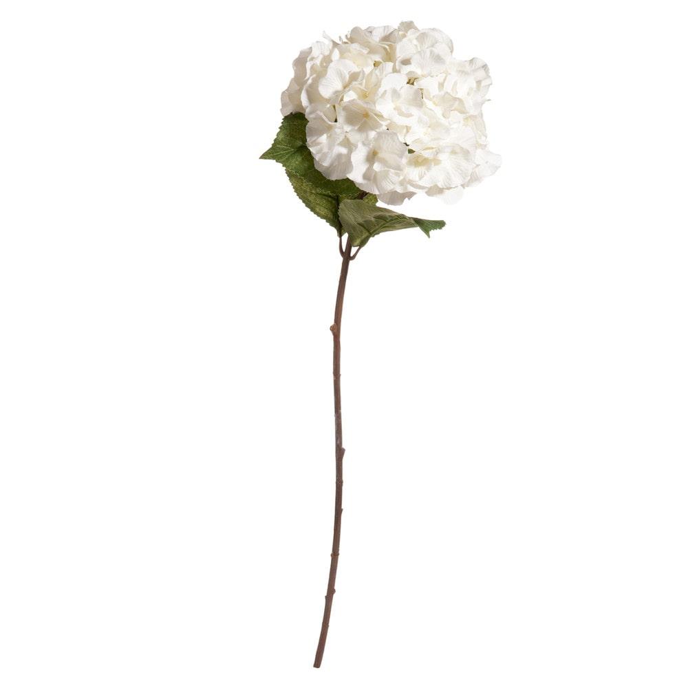 Fleur artificielle hortensia crème H 73 cm