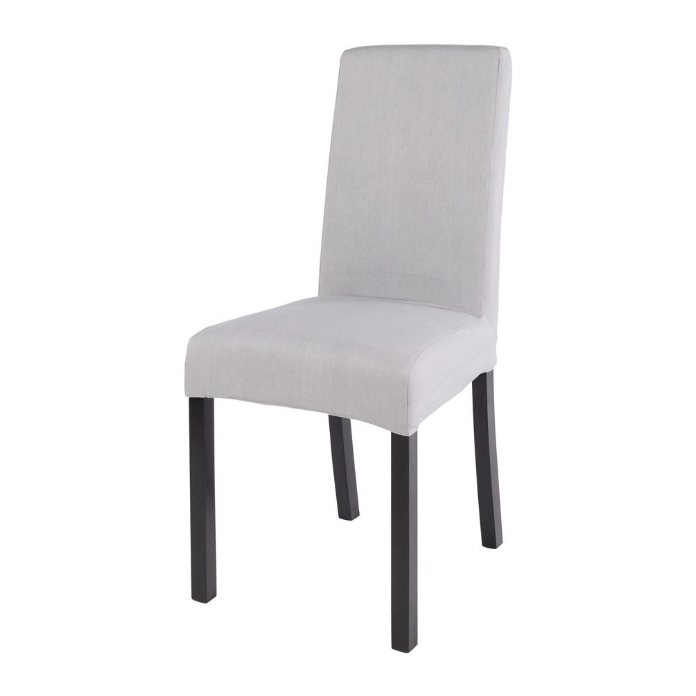Funda de silla de algodón gris 41x70