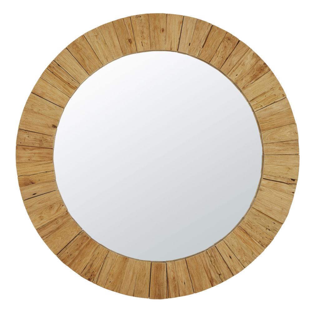 Gerecycleerde Teakhouten Spiegel D162