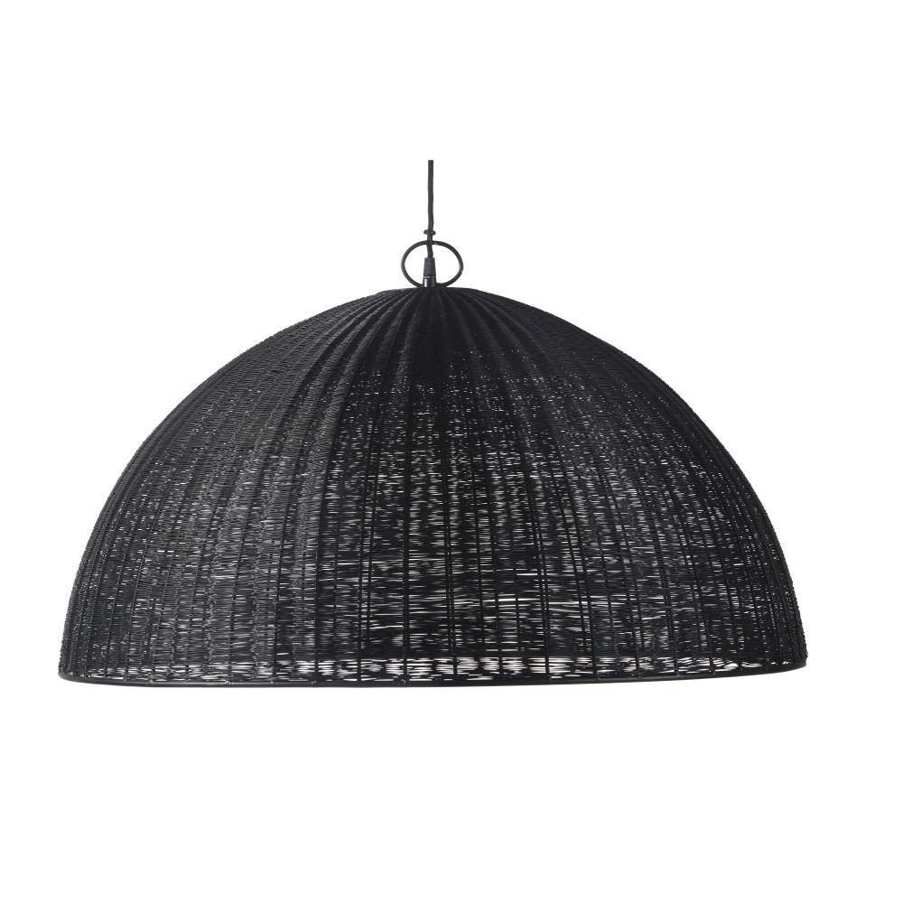 Gevlochten Hanglamp Van Zwarte Metaaldraad