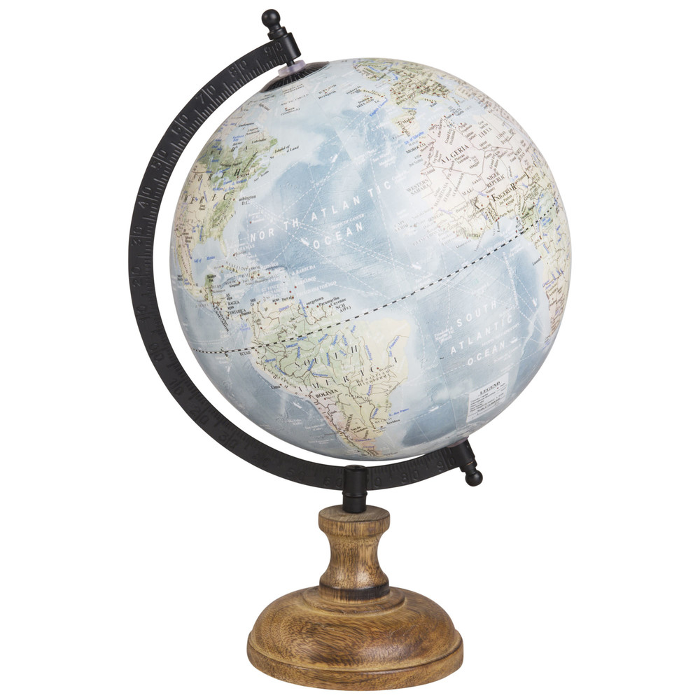Globe terrestre carte du monde H28